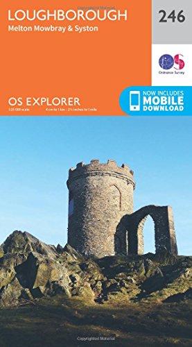 OS Explorer Map (246) Loughborough, Melton Mowbray and Syston