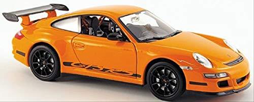 Welly 22495 - Modellino da collezione in metallo Porsche 911 (997) GTR3 RS, scala 1:24, Arancione