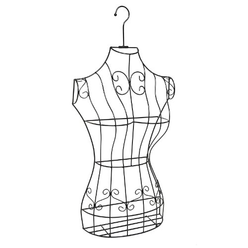Black Metal Wire Frame Freestanding Display Stand/Hanging Dress Form Mannequin Decor