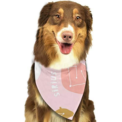 Walvis beer olifant sterrenbeeld roze aangepaste hond kat bandana driehoek slabbetjes sjaal huisdier geschikt voor kleine tot grote hond katten