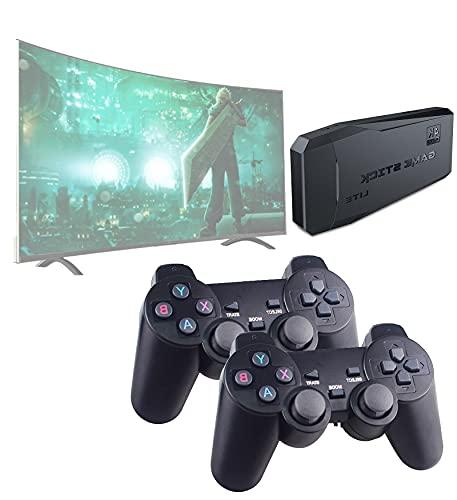 LXYFMS Consola de Juegos Retra inalámbrica, construida en 1000+ Juegos, 4K HD Salida FC/SFC/GBA/Sega/MAME, Consola de Juegos, Mini Consola portátil Plug-and-Play Home Videojuegos, Consola, Regalo IDE
