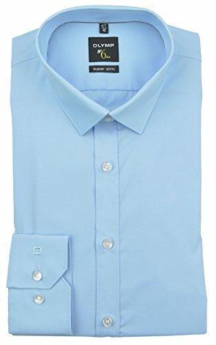 Herren Hemd No. 6 Super Slim Fit Langarm, hellblau, Grösse 42/L