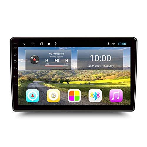 BBGG Máquina Universal Android GPS 2G + 32G, navegación satelital estéreo para automóvil, navegación GPS, teléfono Manos Libres Bluetooth/Vi(Size:9 Inch,Color:Anfitrión + Kia Hyundai Line)