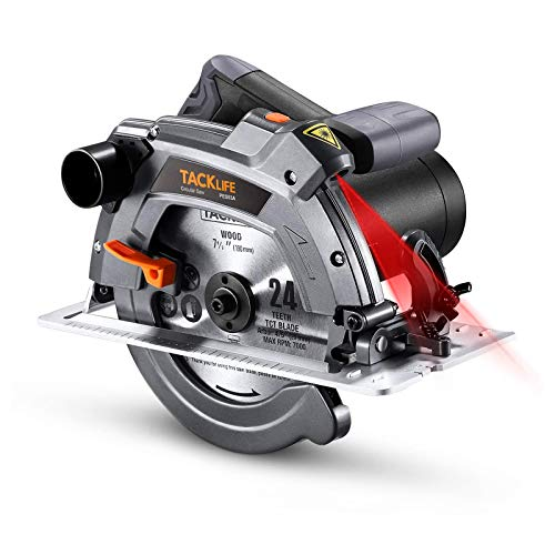 Scie Circulaire 1500 W, 5000 tr/min, Protection en...