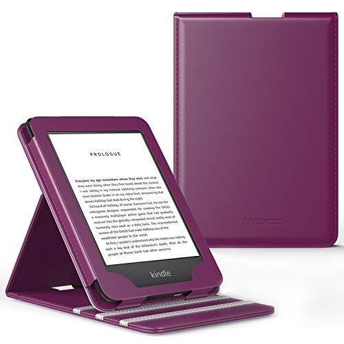 MoKo Funda Compatible con All-New Kindle (10th Generation, 2019) / Kindle (8th Generation, 2016), Standing Origami Slim Shell Funda con Auto Sueño/Estela - Morado