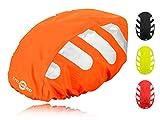 Wasserdichter Regenschutz für den Fahrradhelm (oranges Cover) Unisex Regenüberzug für den Helm...