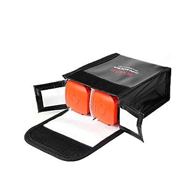 Leepesx Reemplazo para Autel EVO II Drone Batería de LiPo portátil Bolsa de Almacenamiento de Seguridad Resistente al Calor Almacenamiento Resistente al Fuego 2 batería Bolsa de protección