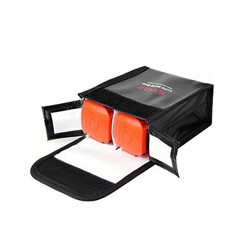 Godyluck- Ersatz für Autel EVO II Drohne Tragbare LiPo-Batterie Sicherheitsaufbewahrungstasche Hitzebeständige feuerfeste Aufbewahrung 2 Batterie Schutzhülle