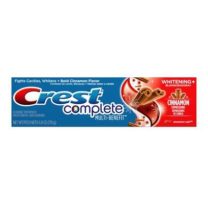 2x Crest Complete Whitening Plus Cinnamon Expressions Toothpasta/tandpasta - uit de VS