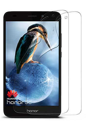 MoEx® Kristallklare HD Schutzfolie passend für Huawei Honor 5C | Premium Bildschirmfolie - Kratzfest & Fast unsichtbar - Ultra Klar