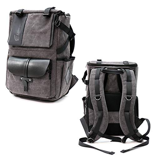 EIRMAI Camera Backpack Canvas Bag Professional Photography & Videography Backpack Water Repellent DSLR SLR Camera Bag with Rain Cover (Eirmai Kevlon Pro SD06)