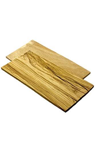 Smokey Olive Wood Tablas para ahumar Hechas de Madera de Olivo para Preparar Tapas/Aperitivos a la Parrilla. 2 Unidades, V-02-220MM