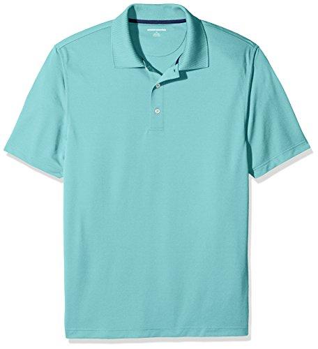 Amazon Essentials (アマゾン エッセンシャルズ) メンズ レギュラーフィット 速乾 ゴルフ ポロシャツ アクア XL