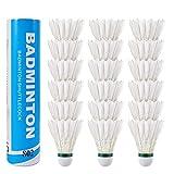 Bearbro 18Pcs Badminton Shuttlecocks,Shuttlecocks Birdies Stable & Durable Sports Training Badminton Balls for...