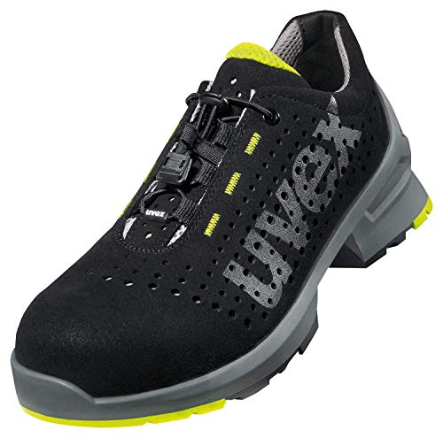 uvex 1 Zapatos de Seguridad - S1 SRC ESD - Transpirable - Zapatillas de Trabajo con Suela Antideslizante