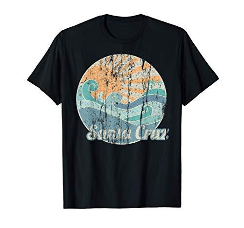 Santa Cruz Regalo de playa Retro Vintage Isla Surfer Camiseta