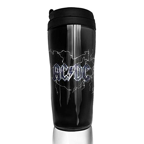 Qurbet Botella de agua, Coffee Mug, ACDC, Milk Tea Drinking Water Bottle Coffee Mug Coffee Tumbler for Women Men