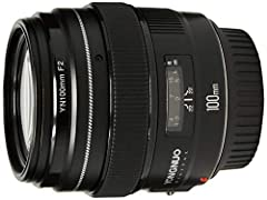The 100mm focal length, which is the equal of 160mm on the APS-C camera, it will let the work generate spatial perspective compressed effect and more close to the background. F2 large aperture,which blur the background and highlight the subject,Equip...