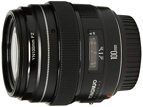 YONGNUO YN100mm F2 Medium Telephoto Prime Lens with AF MF 100mm Fixed Focal Length Aperture F/2~F/22 for Canon EOS Rebel Cameras