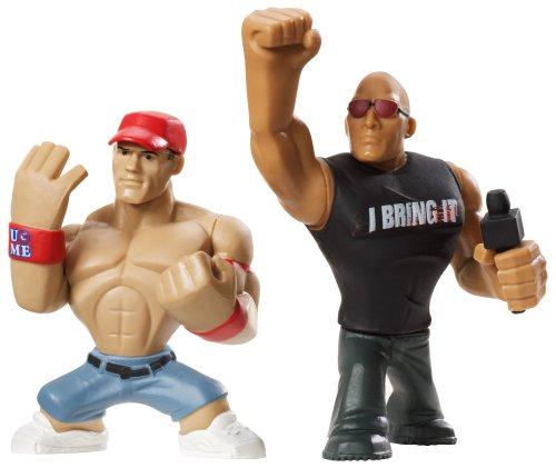 John Cena & the Rock Figurines WWE Wrestling Mini Rumblers