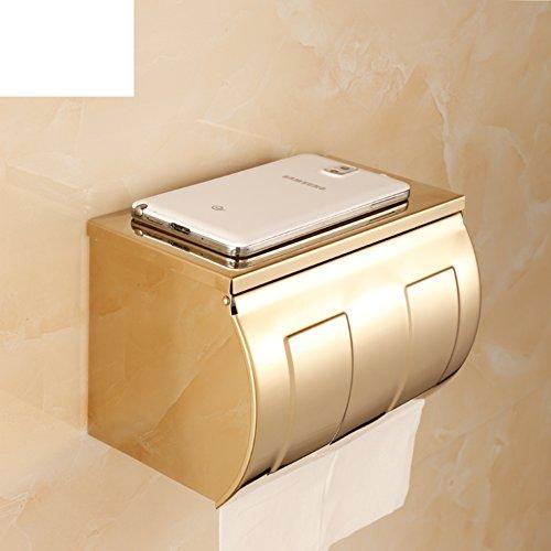 Gouden RVS Kleenexbox/langwerpig toiletpapier, toiletkast/weefsel/doos/box voor papier//[waterdichte handschaal] -B