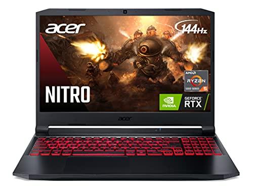 Acer Nitro 5 AN515-45-R21A Gaming Laptop, AMD Ryzen 5 5600H Hexa-Core Processor   NVIDIA GeForce RTX 3060 Laptop GPU   15.6' FHD 144Hz IPS Display   16GB DDR4   512GB NVMe SSD   WiFi 6   BL Keyboard