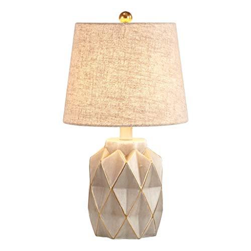YIXIN2013SHOP Lámpara de Cabecera Estilo Moderno Sala de Estar Dormitorio de la lámpara Mesita de Noche LLámpara de Noche (Color : Beige)