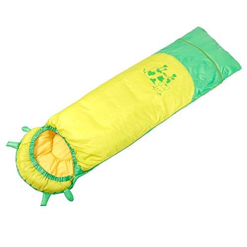 QFFL shuidai Enveloppe Sac de Couchage/Imperméable / Enfants Camping en Plein Air Épaissir Coton Sac de Couchage Rectangulaire Créatif Sac de Compression (3 Couleurs Disponibles) (190 * 60cm)