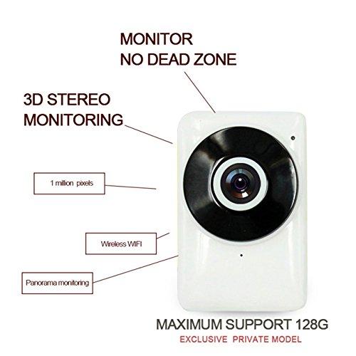 Dome Kamera/WiFi Kamera Ios / ¨¹berwachungskamera Full HD/Sicherheitskamera/IP Netzwerk Kamera H-EC1G6, Unterst¨¹tzungs-Screenshots / 128GB TF (Micro) Karte
