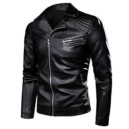 Men Leather Jacket Coat Autumn Biker Leather Jackets otorcycle Vintage Rock & Roll