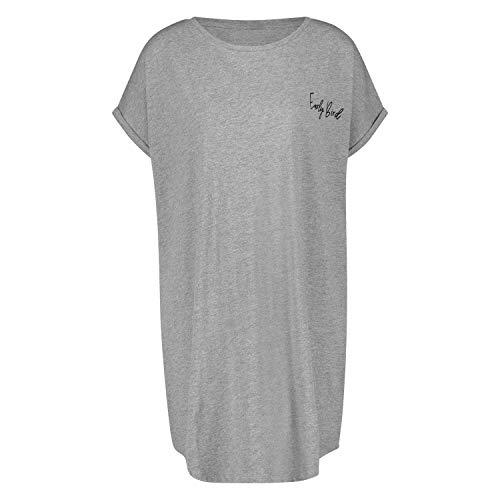 HUNKEMÖLLER Damen Nachthemd Rundhalsausschnitt Grau XS/S