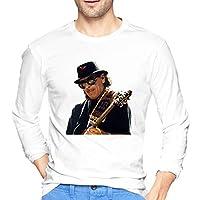 San-Ta-Na (4) メンズ長袖tシャツションプリントトップtシャツギフトwhite L