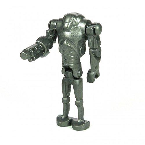 Lego Star Wars Figur Super Battle Droid dunkel silber grau Superkampf droide mit Blasterarm 7869 F17