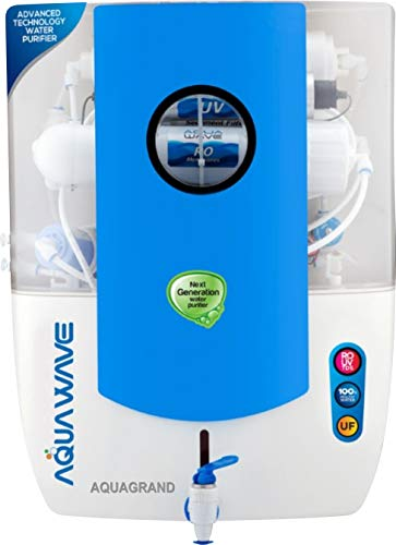 Grand Plus Wave 14 Stage RO+UV+UF & TDS Manager 12 L RO + UV + UF + TDS Water Purifier (Blue) Across India- 6 Month Warranty BT