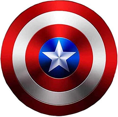 Captain America Shield aus Metall Cosplay Requisiten Superheld-Retro-Kostüm-Schild Halloween 75-jähriges Jubiläum amerikanischer Schild for Erwachsene und Kinder-Bar-Wand-Wand-Hangende Dekorationen 32