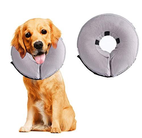 Emwel - Collare gonfiabile per cani di taglia grande, comodo collare conico per convalescenza
