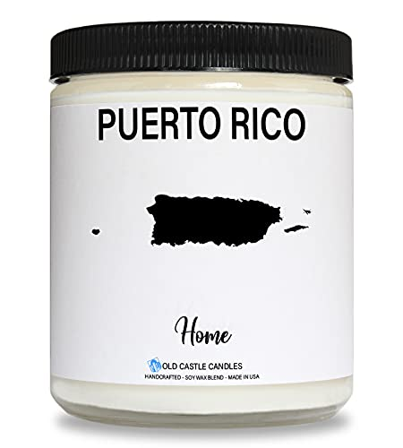 Puerto Rico Candle, Homesick Gift, Personalized College Dorm Decor, 8...