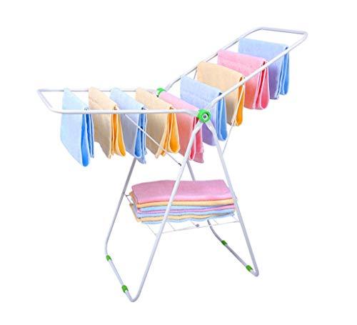 Wäscherei-Wäscheständer-Balkon-faltender Steppdecken-Stützrahmen Stehender Wäschepfosten-Handtuch-Hängegestell