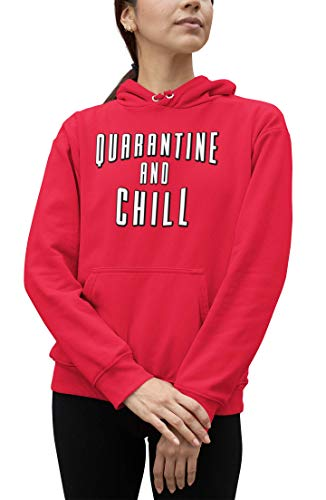 Go All Out Adult XX-Large Red Adult Quarantine and Chill Sweatshirt Hoodie