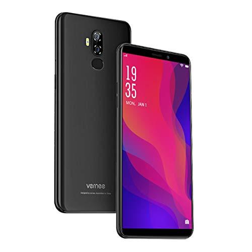 Vernee X2(2019) Smartphone Ohne Vertrag, Android 9.0, 6350 mAh große Batterie, 3GB RAM 32GB ROM, 13MP+5MP Haupt/5MP Frontkameras, Dual SIM 4G Handy, 6 Zoll 18: 9 HD-Display (Meteorit schwarz)