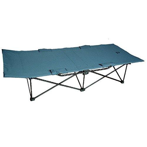 Gris fonc/é//Bleu High Peak Toledo XL Lit de Camp Pliant Extra-Large Mixte Adulte