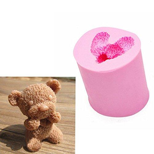 Bazaar 3D schattige kleine beer siliconen mal Fondant chocolade zeep mal