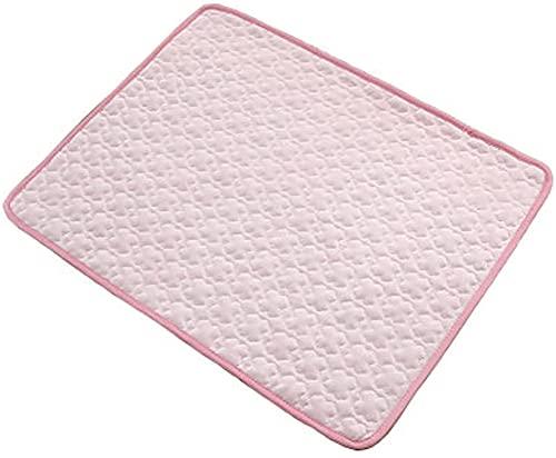 Colchoneta refrescante para perros, colchón de verano, varias opciones de tamaño, lavable, ideal para perros y gatos, para mantenerse fresco este verano, XXL: 150 x 100 cm, color rosa