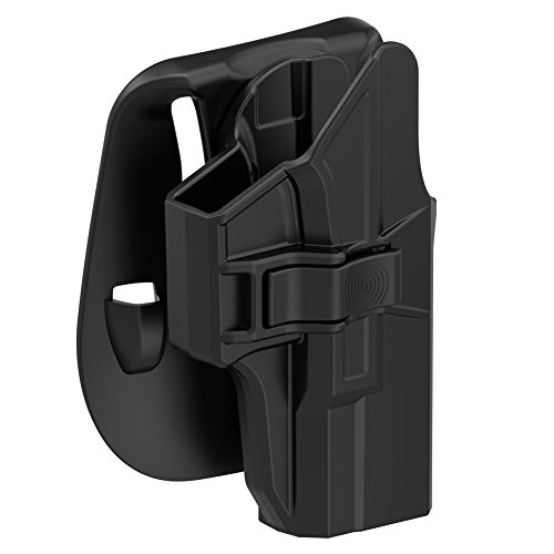 TEGE Paddle Holster Compatible with Glock 19 19X 23 32 44 45 (Gen 1-5), Tactical Outside Waistband Open Carry Holster Custom-Molded Fit G19 G19X G23 G32 G44 G45 (Gen 1 2 3 4 5), RH