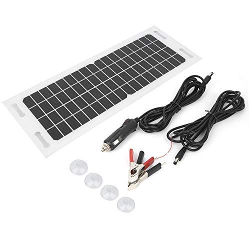 Auto-Solarladegerät, Sc1805 Auto-Solarladegerät Flexibles monokristallines Silizium mit 3-Meter-Ladekabel 18 V, 5 W, für Autobatterien und Motorradbatterien, die zur Aufrechterhaltung der Batterieleis