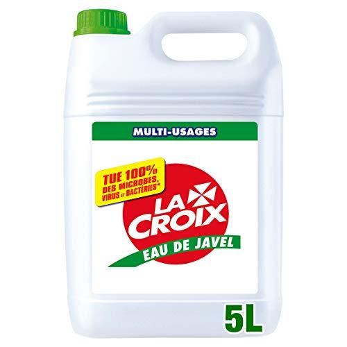 LA CROIX - Eau de Javel La Croix 3,6 % Désinfectant - Tue 100 % des Microbes, Virus et Bactéries - Nettoyant Ménager Multi-Usage - Hygiène Parfaite - Bidon 5 L