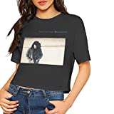 AlbertV Tears for Fears Elemental Sexy Exposed Navel Female T-Shirt Bare Midriff Crop Top T-Shirts Black XL
