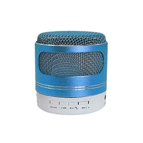 Bluetooth spreker HiFi kleurrijk geleide draadloze draagbare mini luidspreker voor TF-kaart FM-radio Mp3 met microfoon bellen, blauw