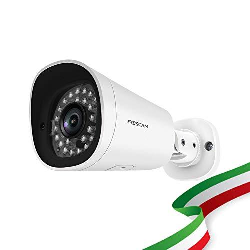 Foscam G2EP Telecamera Esterna 2 Megapixel Full HD 1080P Infrarossi Fino a 20 Metri