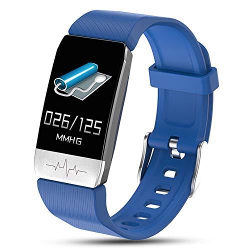 KUMIHO Fitness Armband mit Temperatur messen, Blutdruckmessung Pulsmesser Schrittzähler Uhr Wasserdicht IP68 Sportuhr Pulsuhr Fitness Uhr für Damen Herren Smart Watch Uhr für Android iOS (Blau)